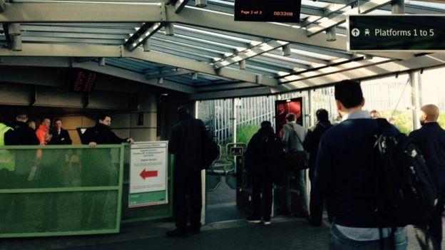 Barrrier and passengers