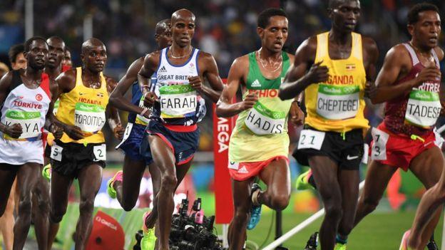 Competidores de los 10.000 metros