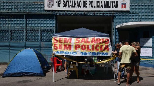 Protesto de policiais no Rio