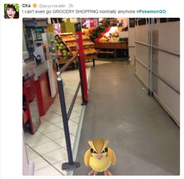 Un tuit sobre PokemonGo