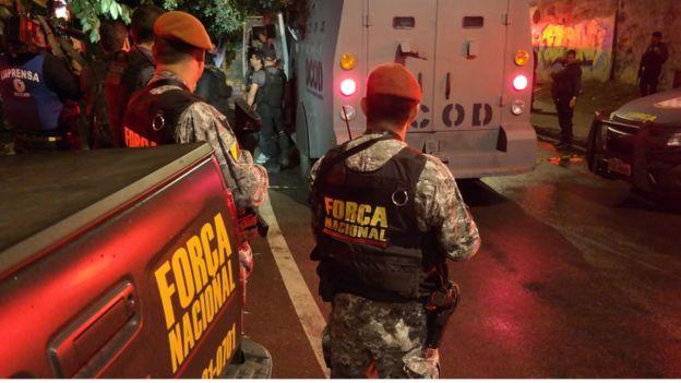Agentes da Força Nacional trabalham temporariamente no Rio de Janeiro durante a Olimpíada