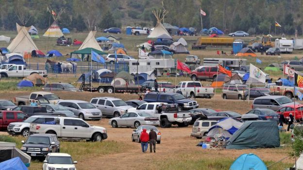 The Sacred Stones Overflow Camp is growing in size and number as more people arrive at the site along North Dakota Highway 1806 and across the Cannonball River from the Standing Rock Sioux Indian Reservation, Monday, Sept. 5, 2016 in Morton County, N.D.