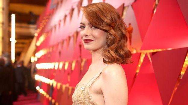 Emma Stone en los Oscar.
