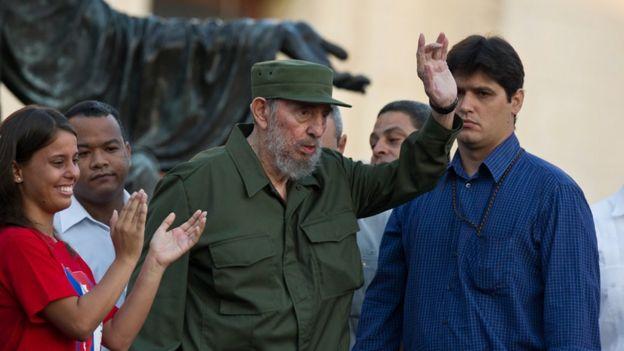 Fidel Castro'nun Havana Üniversitesi ziyareti