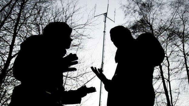 Antena móvil en Sussex., Reino Unido