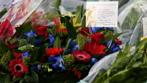 Tributes from Crystal Palace