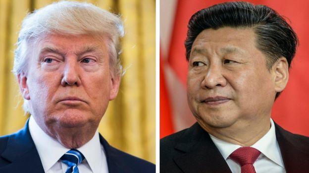 Donald Trump, presidente de EE.UU. y Xi Jinping, presidente de China