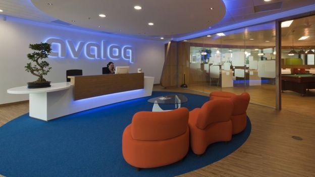 Recepção do escritório da Avaloq em Zurique