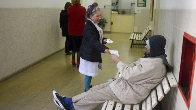 Hospital psiquiátrico en Argentina.