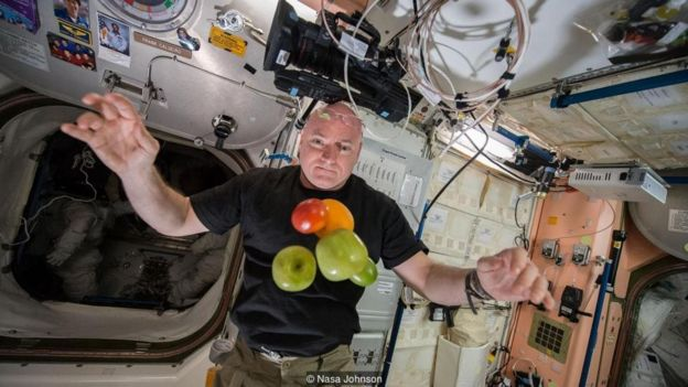 Fresh fruit is a rare treat for astronauts on the ISS when it is brought up in periodic resupply capsules