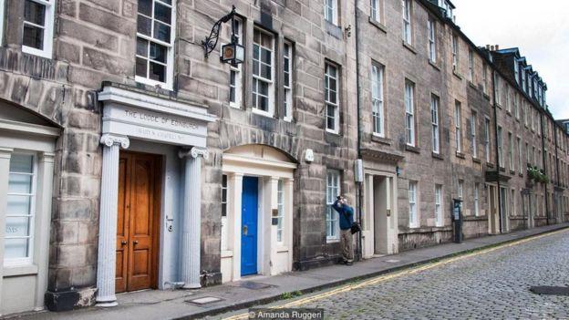 Edinburgh-da 19 Hill Street-də Mason lojası