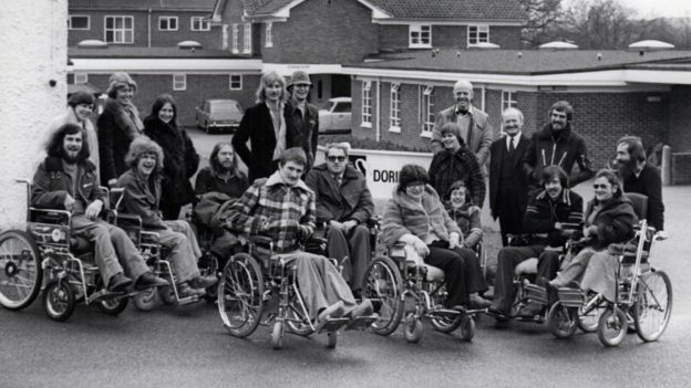 A group of wheelchair users going on a vacation to Lulworth Court