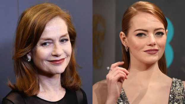 Isabelle Huppert y Emma Stone
