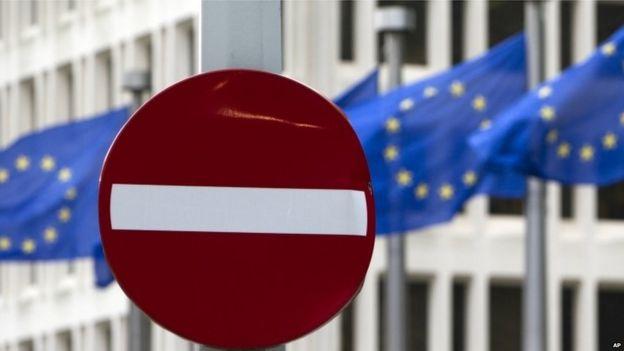 Signo de tr'ansito en Bruselas