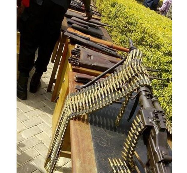 Weapons found in Kumasi