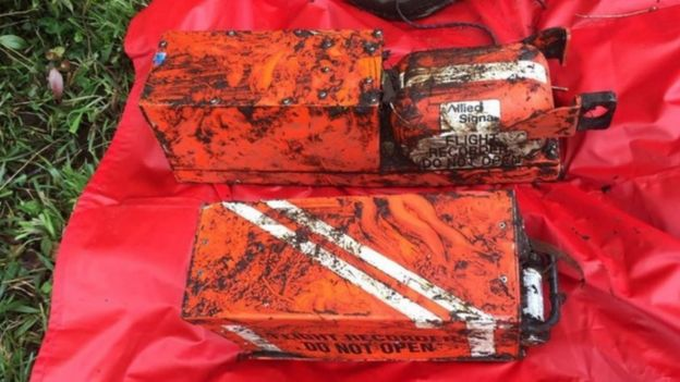 The black boxes from a crashed flight in Colombia