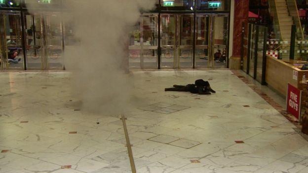 Mock suicide bomber
