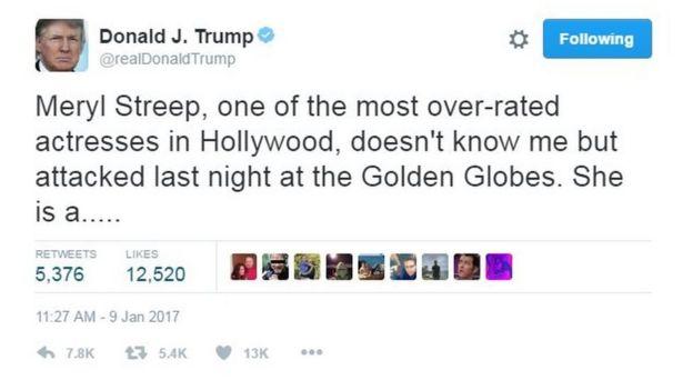 El trino de Trump