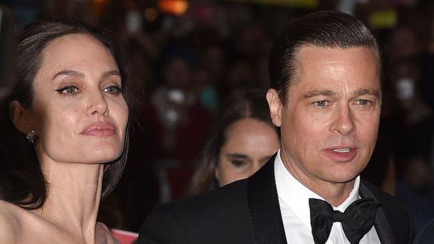 Angelina Jolie y Brad Pitt en una foto de noviembre de 2015