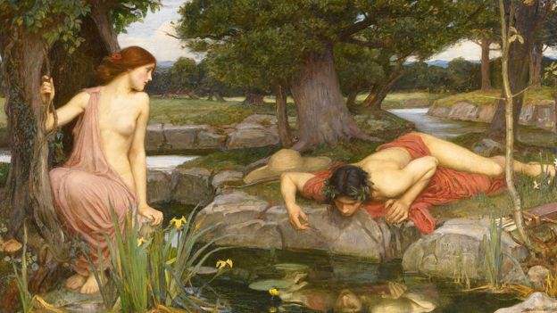Eco y Narciso, John William Waterhouse (1849 -1917)