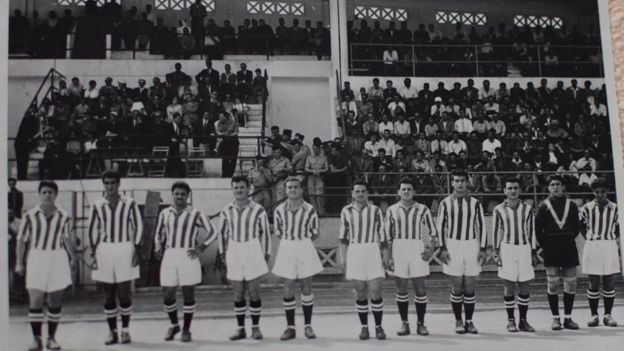 Line up of Constantine football club team players.