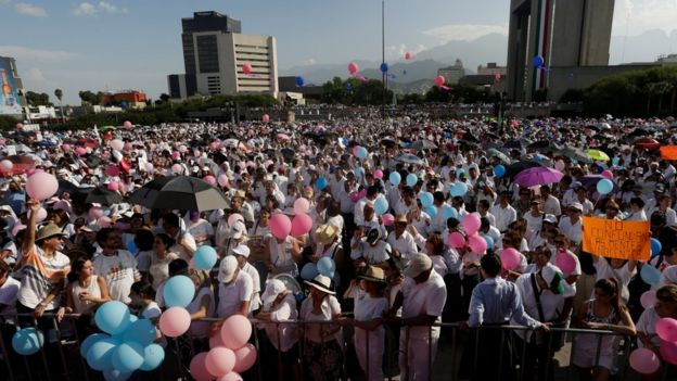 Protesta en Monterrey