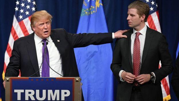 Donald y Eric Trump