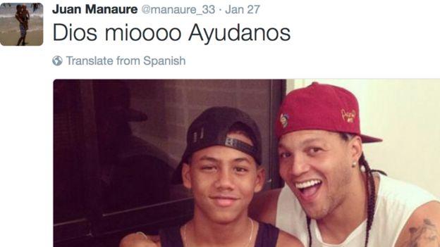 Juan Manaure y su hijo Derek