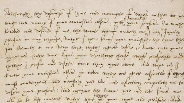 Carta de Catalina Parr a Enrique VIII