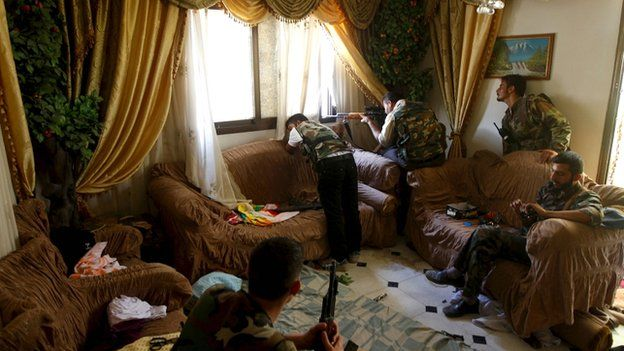 House in Aleppo become a sniper post