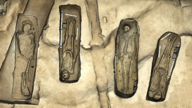 3-D rendering of graves