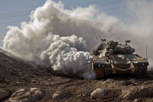 Израильский танк на Голанах