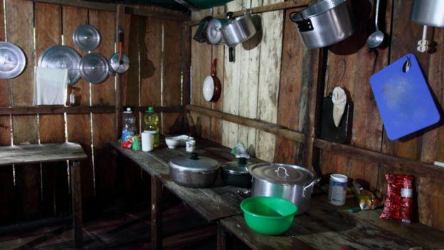 Cocina de campamento de las FARC
