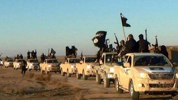 Photo of jihadists taken from a militia website