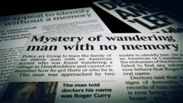 Periódicos que mencionan el caso de Roger Curry.