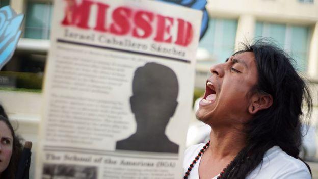 Protesta contra las desapariciones en México