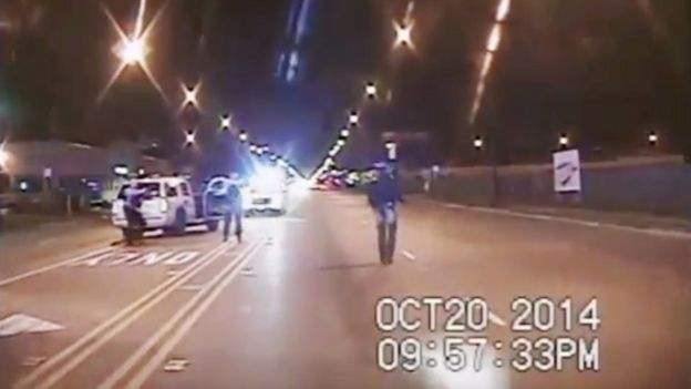 Dash-cam video shows Laquan McDonald moments before being shot by an officer