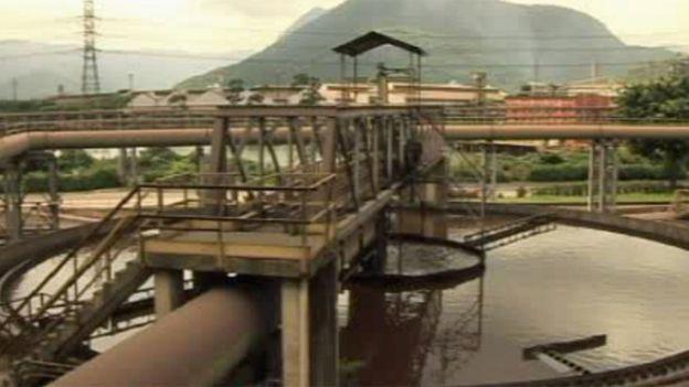 Planta de tratamiento de aguas residuales en Cubatão