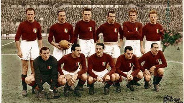 Jogadores do Torino em 1948