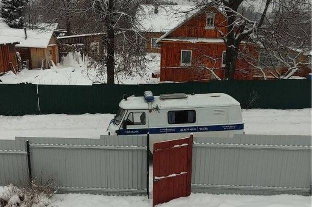 Police van during siege - Instagram pic