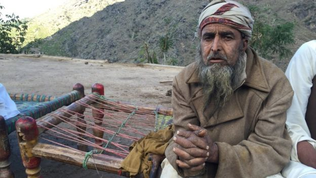 Earthquake survivor in Mingora