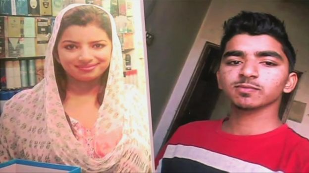 Zeenat Shahzadi and brother Saddam