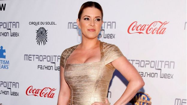 Venezuelan-born former Miss Universe Alicia Machado at an event in Burbank, California (1 October 2016)