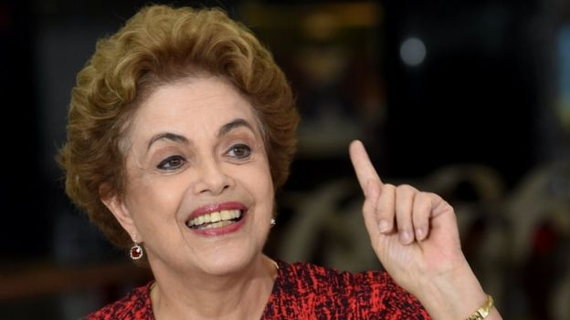 Brazil President Dilma Rousseff, presser, Brasilia
