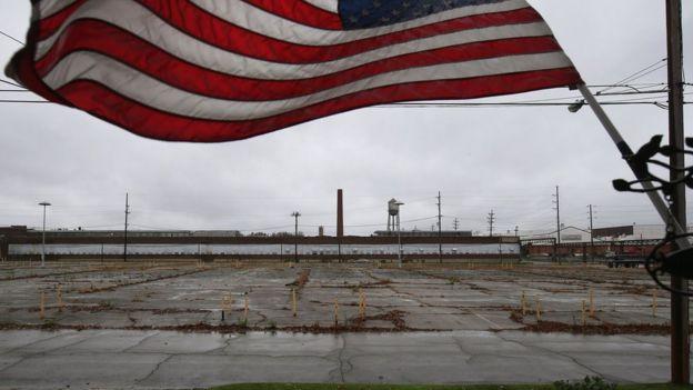 Fábrica abandonada no Estado de Ohio