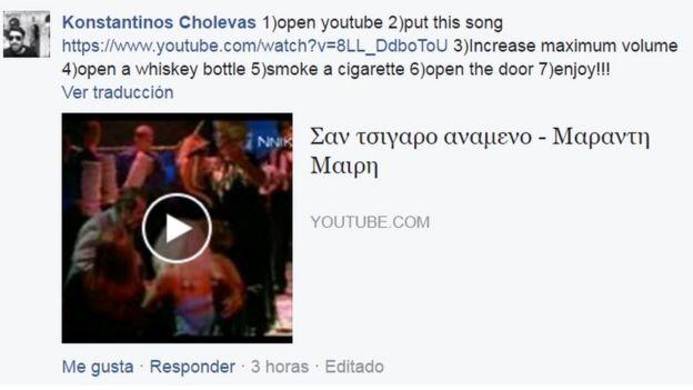 Comentarios en Facebook.