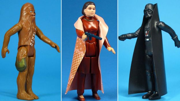 Chewbacca, Princess Leia and Darth Vader