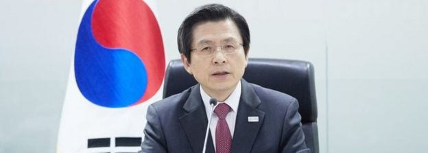 Acting S Korean president Hwang Kyo-ahn
