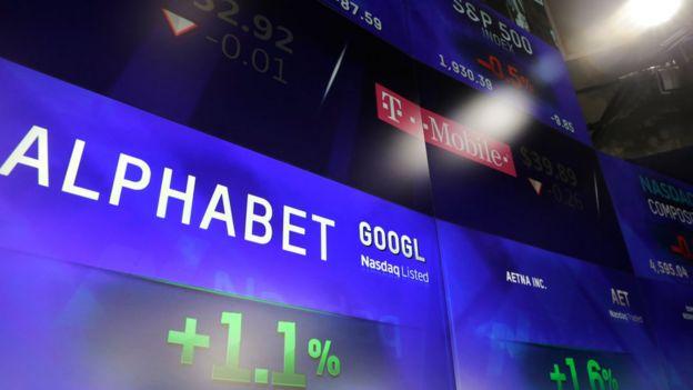 Alphabet en una pantalla
