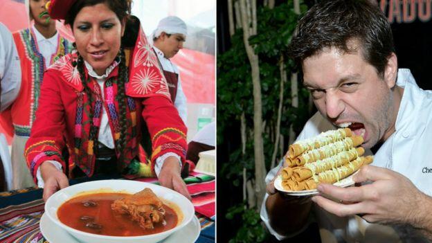 Comida peruana y mexicana